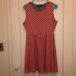 Peach PokADot dress